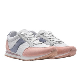 Classic white sneakers with Aniya pink 4