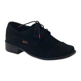 Zarro Black shoes communion suede leather red 1