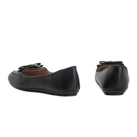 Ladies' black moccasins with Ingrid bow 2