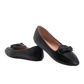 Ladies' black moccasins with Ingrid bow 3