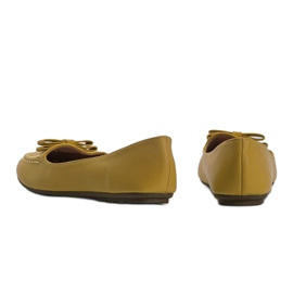 Yellow ladies loafers with Ingrid bow 3