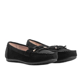 Black eco-suede loafers from Kira 1