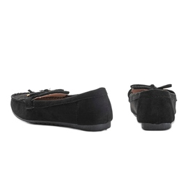 Black eco-suede loafers from Kira 2