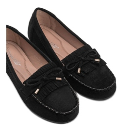 Black eco-suede loafers from Kira 4