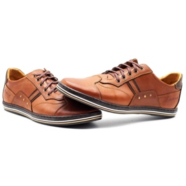 Polbut 1801L Ax Camel casual men's shoes brown 6