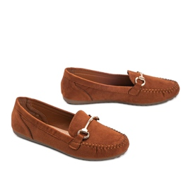 Brown loafers with a Brandy buckle 2