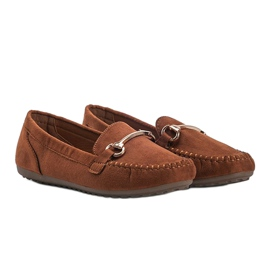 Brown loafers with a Brandy buckle 1