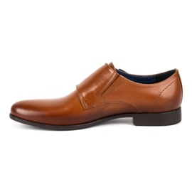 Kampol Men's formal shoes monki 341 / C1 brown 1