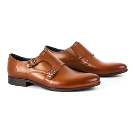Kampol Men's formal shoes monki 341 / C1 brown 2