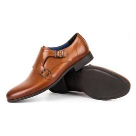 Kampol Men's formal shoes monki 341 / C1 brown 3