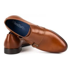 Kampol Men's formal shoes monki 341 / C1 brown 4