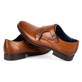 Kampol Men's formal shoes monki 341 / C1 brown 5