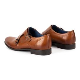Kampol Men's formal shoes monki 341 / C1 brown 6