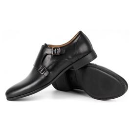 Kampol Men's formal monk shoes 341/15 black 3