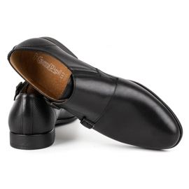 Kampol Men's formal monk shoes 341/15 black 4