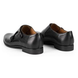 Kampol Men's formal monk shoes 341/15 black 6