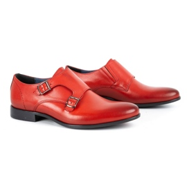 Kampol Men's formal monki shoes 341/39 red 2