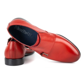 Kampol Men's formal monki shoes 341/39 red 4