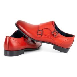 Kampol Men's formal monki shoes 341/39 red 5