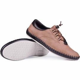 Kampol Casual men's shoes 337 / OL brown beige 1
