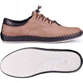 Kampol Casual men's shoes 337 / OL brown beige 2
