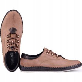 Kampol Casual men's shoes 337 / OL brown beige 4