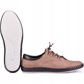 Kampol Casual men's shoes 337 / OL brown beige 5