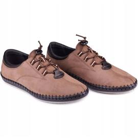Kampol Casual men's shoes 337 / OL brown beige 6