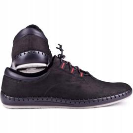 Kampol Black casual men's shoes 337/61 3