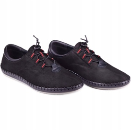 Kampol Black casual men's shoes 337/61 6