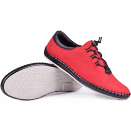 Kampol Casual men's shoes 337/39 red black 1