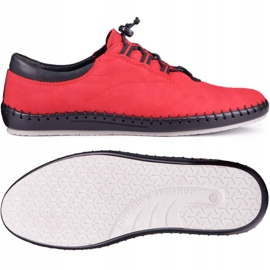 Kampol Casual men's shoes 337/39 red black 2