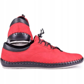 Kampol Casual men's shoes 337/39 red black 3