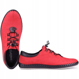 Kampol Casual men's shoes 337/39 red black 4