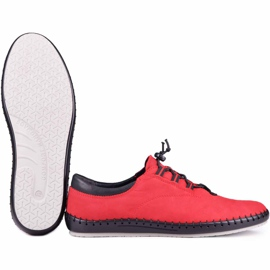 Kampol Casual men's shoes 337/39 red black 5