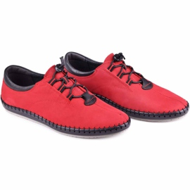 Kampol Casual men's shoes 337/39 red black 6