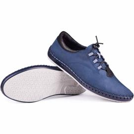 Kampol Men's casual shoes 337/53 navy blue 1