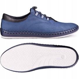 Kampol Men's casual shoes 337/53 navy blue 2