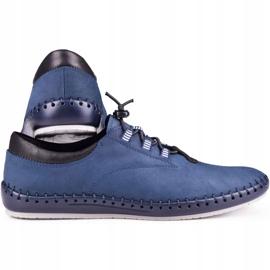 Kampol Men's casual shoes 337/53 navy blue 3