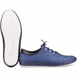 Kampol Men's casual shoes 337/53 navy blue 4