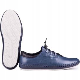 Kampol Men's casual shoes 337/63 navy blue grain 5