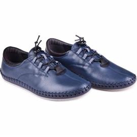 Kampol Men's casual shoes 337/63 navy blue grain 6