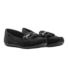 Aubrey black suede loafers 1