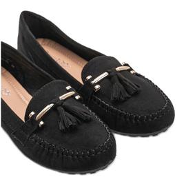 Aubrey black suede loafers 2