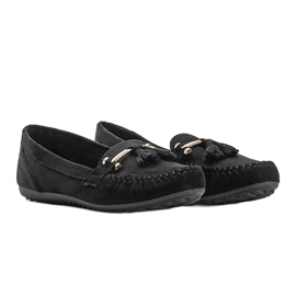 Aubrey black suede loafers 3