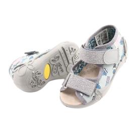 Befado yellow children's shoes 342P025 blue grey 4