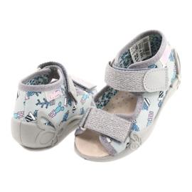 Befado yellow children's shoes 342P025 blue grey 5