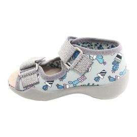 Befado yellow children's shoes 342P025 blue grey 2