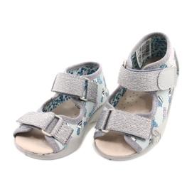 Befado yellow children's shoes 342P025 blue grey 3
