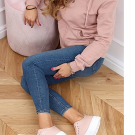 Pink women's sneakers LA134 Pink 2